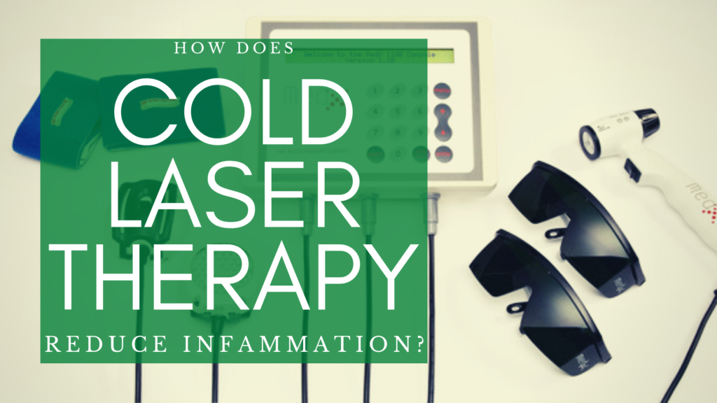 How does Cold Laser Therapy reduce inflammation? With image of a Cold Laser unit