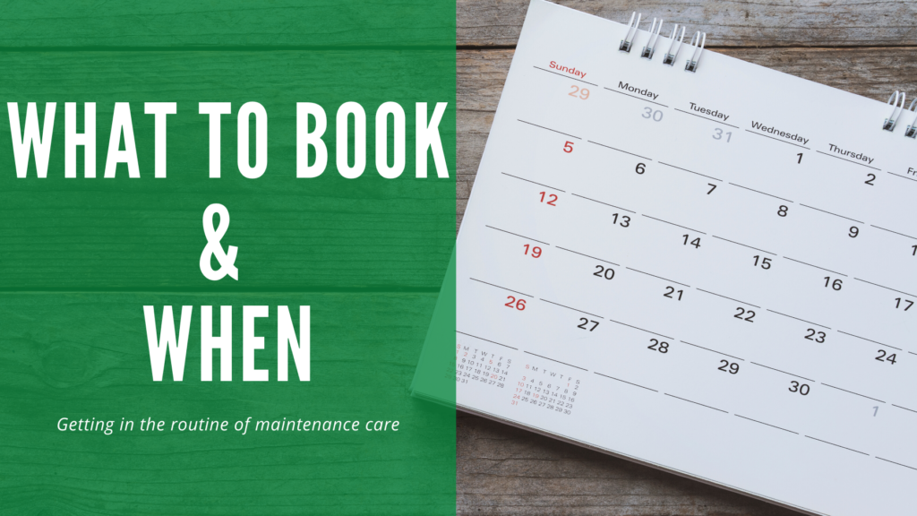 The title of the blog, what to book and when appears against a green background. The picture of a paper calendar is beside the text.