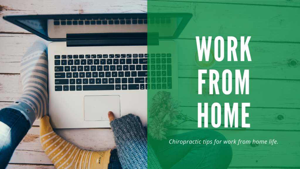 Blog title against green background on one side with picture of person sitting on floor with a laptop