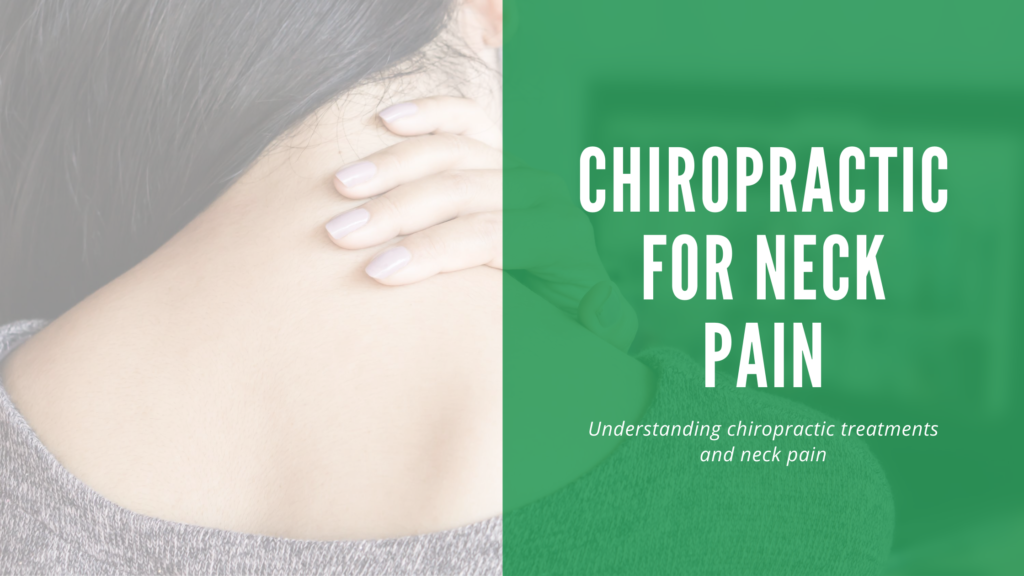 picture of woman holding the back her neck in pain with the title of the blog